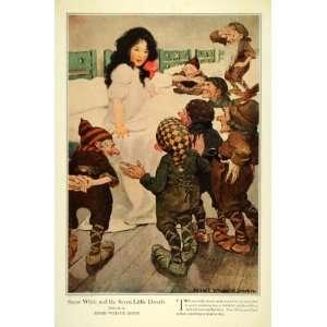 1909 Jessie Willcox Smith Snow White Seven Dwarf Print