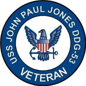 Navy USS John Paul Jones DDG 53 Ship Veteran Decal Sticker 3.8 6 Pack