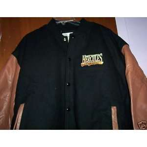 HERCULES LEATHER/WOOL BLACK JACKET XXL KEVIN SORBO