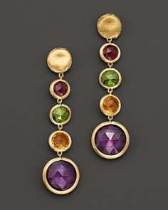 Marco Bicego Jaipur 18K Yellow Gold And Multi Stone Drop Earrings