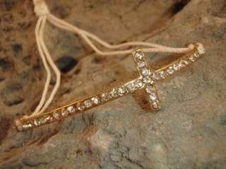 Bracelet Crystal Rhinestone Faith Religious Christian Jewelry