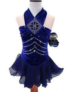Figure Ice Skating Dance Baton Costume Dress Child M