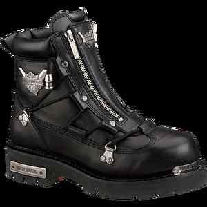 Mens Harley Davidson Leather Motorcycle Boots Brake Light D91680