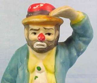 Vintage EMMETT KELLY CLOWN FIGURINE Flambro L E HOBO