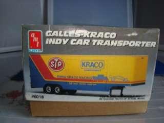 AMT GALLES KRACO INDY CAR TRANSPORTER SEMI TRUCK TRAILER MODEL KIT