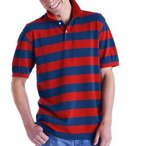 Faded Glory   Big Mens Rugby Stripe Polo Shirt Mens Big & Tall
