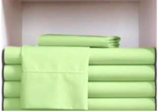 of twin sheets lime green in color 200 tc cotton