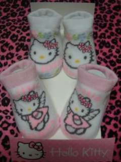 Baby Infant with Hello Kitty Sign Sock 2 Pair One Set New Clothing