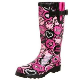 Chooka Womens Hello Kitty Punk Buttons Rain Boot   designer shoes
