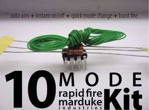 Mode MW3 Rapid Fire Mod Kit Xbox 360 Controller Black Ops MODDED GoW3