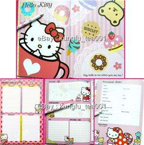 2012 Hello Kitty Hardcover Schedule Monthly Planner Bk Diary w Memo