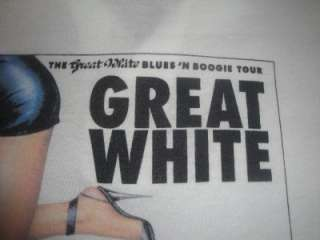 Great White B&B Vtg 1990 Tour Shirt MSG Havana Black Promo Capitol