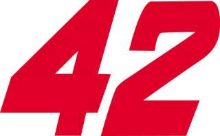 NASCAR #42 JUAN PABLO MONTOYA Window Wall DECAL Sticker