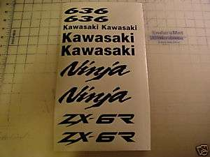 Kawasaki Ninja ZX6R 636 decal kit 2007 07 08 09 2008