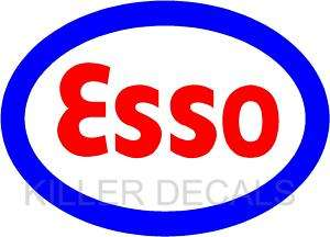ESSO GASOLINE GAS PUMP OIL TANK DECAL BY EXXON