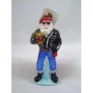 RADKO SANTA DUDE Leather Jacket Biker Jeans Christmas