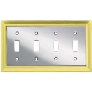 Liberty Hardware 64201 Architectural Quad Switch Wall Plate, Polished