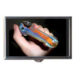 Marijuana Glass Pipe Colorful Coin, Mint or Pill Box: Made