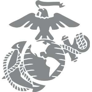 Marine Corps   Eagle Globe & Anchor SILVER METALLIC USMC