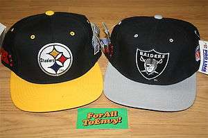 Vintage LA Raiders OR Pittsburgh Steelers Starter FITTED hat NWT 90s
