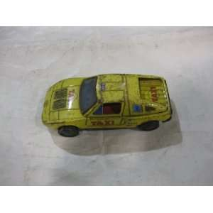 Old Japanese Tin Toy Taxi Cab Toys & Games