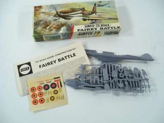 Airfix Fairey Battle 1/72 Scale Model Airplane Kit 259