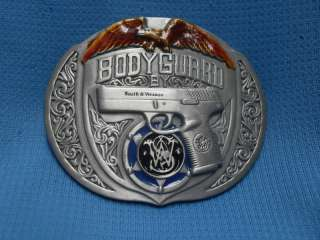 BODYGUARD BY SMITH & WESSON GUN PISTOL BELT BUCKLE