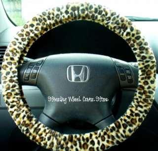 Car Steering Wheel Cover Soft Faux Fur Cheetah Print