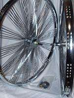 CHROME LOWRIDER FAN WHEEL SET CRUISER,CHOPPER,BICYCLE