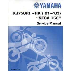1983 Yamaha XJ750R Seca Factory Service Manual Yamaha Motors Books