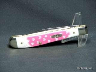 Case XX 2012  Deer Tracks  Utility Knife PINK over White Double Dyed