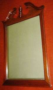 Large Mahogany Wall Mirror, 24 x 38