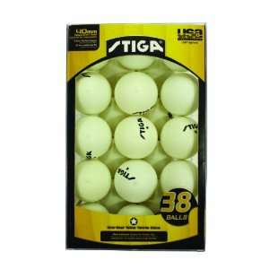 Stiga One Star Table Tennis Ball, 38 Pack Sports